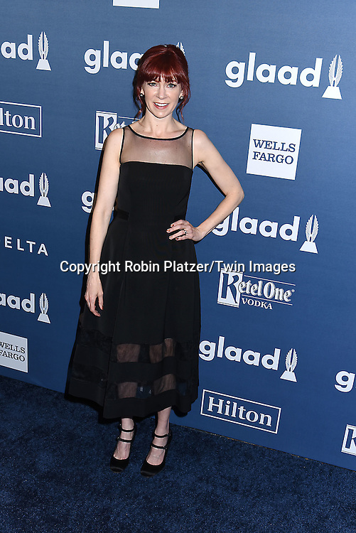Carrie Preston attends the 27th Annual GLAAD Media Awards on May 14, 2016 at the Waldorf Astoria Hotel in New York City, New York, USA.<br /> <br /> photo by Robin Platzer/Twin Images<br />  <br /> phone number 212-935-0770