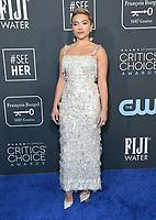 12 January 2020 - Santa Monica, California - Florence Pugh. 25th Annual Critici's Choice Awards held at Barker Hangar. Photo Credit: Birdie Thompson/AdMedia