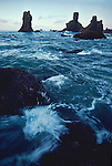 Olympic National Park, Shi Shi Beach, Point of the Arches, Olympic Coast National Marine Sanctuary, Washington State, Pacific Northwest, rocky shore, sea stacks, Pacific Ocean, Northwest coast, Olympic Peninsula, North America, USA,.