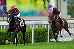 HONG KONG - MAY 04:  Karis Teetan of South Africa riding Bubble Chic during The Queen Mother Memorial Cup at Sha Tin racecourse on May 4, 2014 in Hong Kong, Hong Kong.  Photo by Aitor Alcalde / Power Sport Images