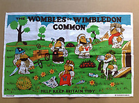 BNPS.co.uk (01202 558833)<br /> Pic: GillSeyfang/BNPS<br /> <br /> Womble tea towel from the 1970's.<br /> <br /> An environmentalist is selling the world's biggest Womble collection after the famous furry creatures inspired her to save the planet as a child.<br /> <br /> Gill Seyfang, a senior lecturer in Sustainable Consumption at the University of East Anglia, owns over 1,700 items relating the furry creatures.<br /> <br /> Her vast collection ranges from soft toys to rubbish bins and was recognised by the Guinness Book of Records in 2016.<br /> <br /> Ms Seyfang, from Norwich, Norfolk, began amassing the group in the 1970s and it has continued to grow ever since.