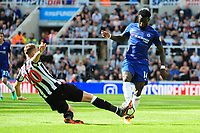 Florian Lejeune of Newcastle United battles with Tiemoue Bakayoko of Chelsea during Newcastle United vs Chelsea, Premier League Football at St. James' Park on 13th May 2018