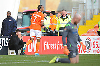 Blackpool's Nathan Delfouneso celebrates scoring his side's third goal <br /> <br /> Photographer Kevin Barnes/CameraSport<br /> <br /> Emirates FA Cup Second Round - Blackpool v Maidstone United - Sunday 1st December 2019 - Bloomfield Road - Blackpool<br />  <br /> World Copyright © 2019 CameraSport. All rights reserved. 43 Linden Ave. Countesthorpe. Leicester. England. LE8 5PG - Tel: +44 (0) 116 277 4147 - admin@camerasport.com - www.camerasport.com