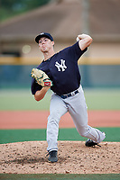 GCL Yankees East relief pitcher Josh Maciejewski (44) delivers a pitch during the second game of a doubleheader against the GCL Pirates on July 31, 2018 at Pirate City Complex in Bradenton, Florida.  GCL Pirates defeated GCL Yankees East 12-4.  (Mike Janes/Four Seam Images)