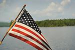 American flag with Moosehead Lake.