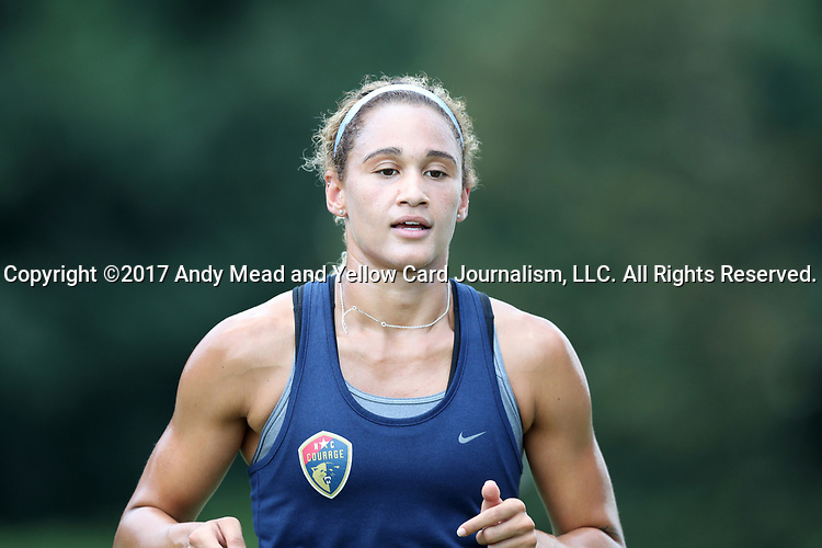 CARY, NC - JULY 11: Lynn Williams. The North Carolina Courage held a training session on July 11, 2017, at WakeMed Soccer Park Field 6 in Cary, NC.