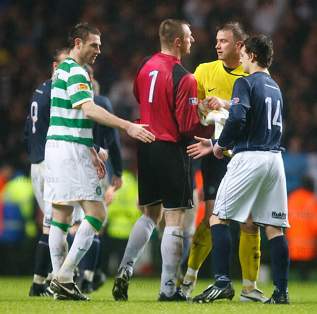 Artur Boruc and Rab Douglas at the end