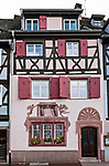 Decorated half-timbered house in Colmar