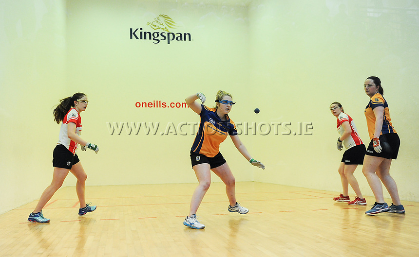 07/04/2018; GAA Handball O&rsquo;Neills 40x20 Championship Ladies Senior Final - Cork (Catriona Casey/Aisling O&rsquo;Keeffe) v Roscommon (Fiona Tully/Leona Doolin); Kingscourt, Co Cavan;<br /> Fiona Tully<br /> Photo Credit: actionshots.ie/Tommy Grealy