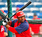 6 March 2009: Washington Nationals' outfielder Destin Hood takes batting practice prior to a Spring Training game against the Baltimore Orioles at Fort Lauderdale Stadium in Fort Lauderdale, Florida. The Orioles defeated the Nationals 6-2 in the pre-season Grapefruit League matchup. Mandatory Photo Credit: Ed Wolfstein Photo