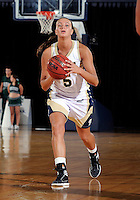 Florida International University guard Sasha Melnikova (5) plays against Stetson University in the first round of the NIT.  FIU won the game 75-47 on March 15, 2012 at Miami, Florida. .