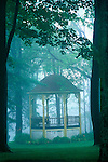 park gazebo in spring fog, Eagles Mere, PA