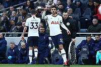 1st March 2020; Tottenham Hotspur Stadium, London, England; English Premier League Football, Tottenham Hotspur versus Wolverhampton Wanderers; Troy Parrott of Tottenham Hotspur comes on for Ben Davies late in the game