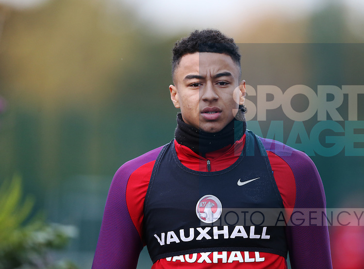 England's Jesse Lingard during training at Tottenham Hotspur training centre, London. Picture date November 14th, 2016 Pic David Klein/Sportimage