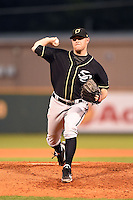 Omaha Storm Chasers pitcher P.J. Walters (19) delivers a pitch during a game against the Nashville Sounds on May 19, 2014 at Herschel Greer Stadium in Nashville, Tennessee.  Nashville defeated Omaha 5-4.  (Mike Janes/Four Seam Images)