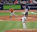 Masahiro Tanaka (Yankees), OCTOBER 6, 2015 - MLB : Houston Astros batter Carlos Gomez hits a solo home run as New York Yankees starting pitcher Masahiro Tanaka reacts in the fourth inning during the American League Wild Card Game at Yankee Stadium in New York, United States. (Photo by AFLO)