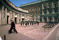 changing the guards. palace guards. Stockholm, Sweden Royal Palace of Stockholm.