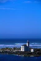Coquile River Lighthouse at Bandon by the Sea on the Oregon Coast