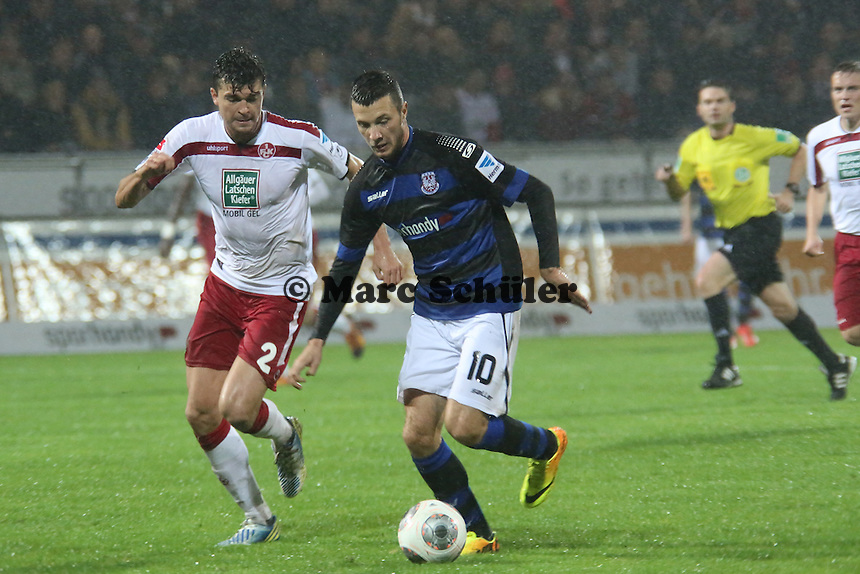 Nikita Rukavytsya (FSV) gegen Jan Simunek (FCK) - FSV Frankfurt vs. 1. FC Kaiserslautern, Frankfurter Volksbank Stadion