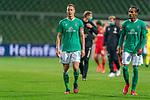 Enttaeuschung nach der Niederlage <br /> Niklas Moisander (Werder Bremen #18 Kapitaen)<br /> Theodor Gebre Selassie (Werder Bremen #23)<br /> <br /> Sport: Fussball: 1. Bundesliga: Saison 19/20: <br /> 26. Spieltag: SV Werder Bremen vs Bayer 04 Leverkusen, 18.05.2020<br /> <br /> Foto ©  gumzmedia / Nordphoto / Andreas Gumz / POOL <br /> <br /> Nur für journalistische Zwecke! Only for editorial use!<br />  DFL regulations prohibit any use of photographs as image sequences and/or quasi-video.