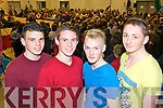 Transition year students Jamie O'Connor, Philip Daly, Gavin Dillon and Sam Lloyd from Scoil Ide agus Iosef, Abbeyfeale pictured last Thursday night for a secial fundrasing fashion organised by the students.