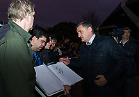Blackburn Rovers manager Tony Mowbray greeting the fans outside Craven Cottage<br /> <br /> Photographer /Ashley WesternCameraSport<br /> <br /> The EFL Sky Bet Championship - Fulham v Blackburn Rovers - Tuesday 14th March 2017 - Craven Cottage - London<br /> <br /> World Copyright &copy; 2017 CameraSport. All rights reserved. 43 Linden Ave. Countesthorpe. Leicester. England. LE8 5PG - Tel: +44 (0) 116 277 4147 - admin@camerasport.com - www.camerasport.com