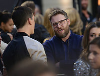 Seth Rogen + Miles Teller @ the 2016 MTV Movie Awards held @ the Warner studios.<br /> April 9, 2016