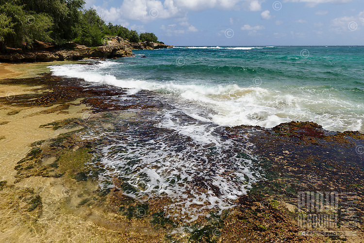The Maha'ulepu beach and coastline, Kaua'i.