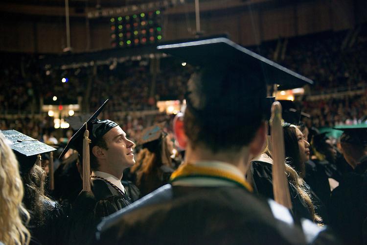 Nicholas Richardson (Left) at undergraduate commencement. Photo by Ben Siegel