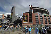 Seattle, WA - Tuesday June 14, 2016: Fans in front of CenturyLink Field prior to a Copa America Centenario Group D match between Argentina (ARG) and Bolivia (BOL) at CenturyLink Field.