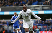 Queens Park Rangers' Yeni Atito Ngbakoto celebrates scoring his sides first goal <br /> <br /> Photographer /Rob NewellCameraSport<br /> <br /> The EFL Sky Bet Championship - Queens Park Rangers v Cardiff City - Saturday 4th March 2017 - Loftus Road - London<br /> <br /> World Copyright &copy; 2017 CameraSport. All rights reserved. 43 Linden Ave. Countesthorpe. Leicester. England. LE8 5PG - Tel: +44 (0) 116 277 4147 - admin@camerasport.com - www.camerasport.com