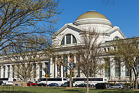 A view of the Neo-classical National Museum of Natural History on the National Mall in Washington, DC.