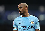 Vincent Kompany of Manchester City during the premier league match at the Etihad Stadium, Manchester. Picture date 7th April 2018. Picture credit should read: Simon Bellis/Sportimage