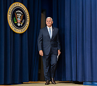 United States Vice President Mike Pence arrives for the signing ceremony of S. 204, the &ldquo;Right to Try Act&rdquo; at the White House in Washington, DC, May 30, 2018.<br /> CAP/MPI/RS<br /> &copy;RS/MPI/Capital Pictures