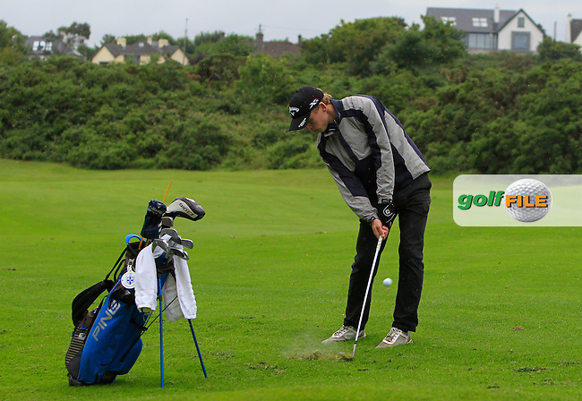 Hugh O'Hare (Fortwilliam) on the 8th fairway during Round 3 of the 2016 Connacht U18 Boys Open, played at Galway Golf Club, Galway, Galway, Ireland. 07/07/2016. <br /> Picture: Thos Caffrey | Golffile<br /> <br /> All photos usage must carry mandatory copyright credit   (&copy; Golffile | Thos Caffrey)