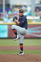 Bowling Green Hot Rods starting pitcher Tommy Romero (29) in action against the Dayton Dragons at Fifth Third Field on June 9, 2018 in Dayton, Ohio. The Hot Rods defeated the Dragons 1-0.  (Brian Westerholt/Four Seam Images)