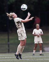 Boston College midfielder Jana Jeffrey (12) traps the ball. After two overtime periods, Boston College tied University of Central Florida, 2-2, at Newton Campus Field, September 9, 2012.