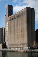 Canada Malting Co. grain processing tower is pictured in Toronto April 22, 2010. The tower is part of the earlier industrial era of Toronto heritage, concentrated along the Toronto Harbour and lower Don River mouth.