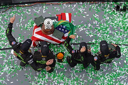 28-31 January, 2016, Daytona Beach, Florida USA<br /> Victory Lane / Podium: 2, Honda HPD, Ligier JS P2, P, Scott Sharp, Ed Brown, Joannes van Overbeek, Luis Felipe Derani<br /> ©2016, F. Peirce Williams<br /> LAT Photo USA