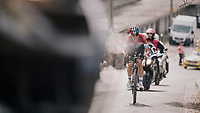race leader Bob Jungels (LUX/Quick Step Floors) solo's up the Saint-Nicolas<br /> <br /> 104th Li&egrave;ge - Bastogne - Li&egrave;ge 2018 (1.UWT)<br /> 1 Day Race: Li&egrave;ge - Ans (258km)
