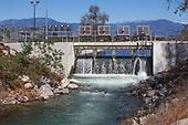 Gate at Rio Hondo Spreading Grounds, Water Replenishment District – WRD, Pico Rivera, Los Angeles County