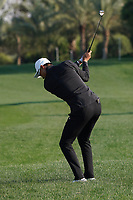 Haotong Li (CHN) on the 8th during the Pro-Am of the Abu Dhabi HSBC Championship 2020 at the Abu Dhabi Golf Club, Abu Dhabi, United Arab Emirates. 15/01/2020<br /> Picture: Golffile | Thos Caffrey<br /> <br /> <br /> All photo usage must carry mandatory copyright credit (© Golffile | Thos Caffrey)