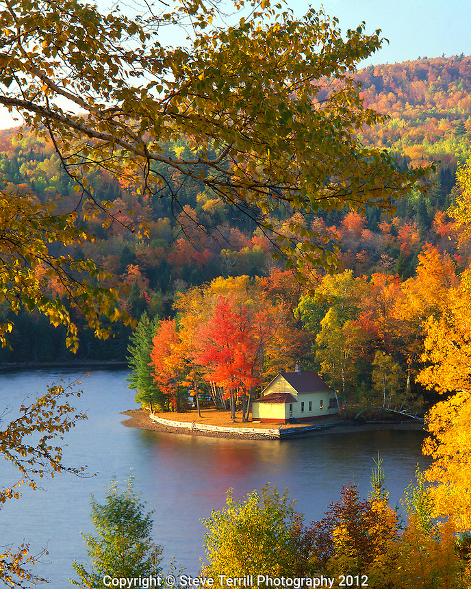 Cabin on shore of Wyman Lake, Maine