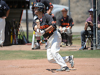 (Photo by John Valenzuela, Freelance)<br /> <br /> The Occidental College baseball team defeats Caltech to claim the SCIAC Championships on Sunday, May 1, 2016 at Oxy's Anderson Field.<br /> <br /> (Photo by John Valenzuela, Freelance)