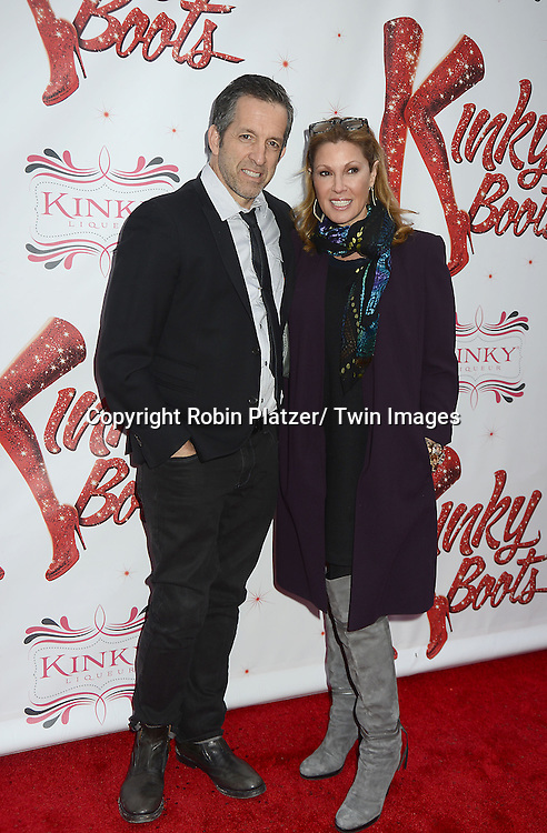 """Kenneth Cole and wife Maria Cuomo Cole arrive at the """"Kinky Boots"""" Broadway Opening on April 4, 2013 at The Al Hirschfeld Theatre in New York City. Harvey Fierstein wrote is the Book Writer and Cnydi Lauper is the Composer."""
