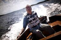 Hvaler. 06.07.2010. Norwegian writer Jan Kjærstad photographed at the island of Herføl. Foto: Christopher Olssøn.