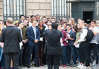September 15 2017, PARIS FRANCE Delegation of Paris 2024 welcomed<br /> by the French President Emmanuel MACRON at the Elysee Palace