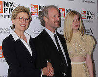 NEW YORK, NY-October 08:Annette Bening, Mike Mills, Elle Fanning, at NYFF54 Centerpiece Gala presents the World Premiere of 20th Century Women  at Alice Tully Hall in New York.October 08, 2016. Credit:RW/MediaPunch