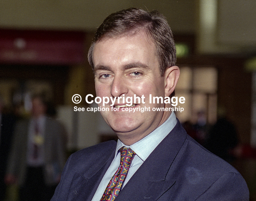 Gerry Malone, MP, Conservative Party, Britain, UK. Ref: 199410074.<br />