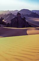 Libya Sahara desert Acakus sunset